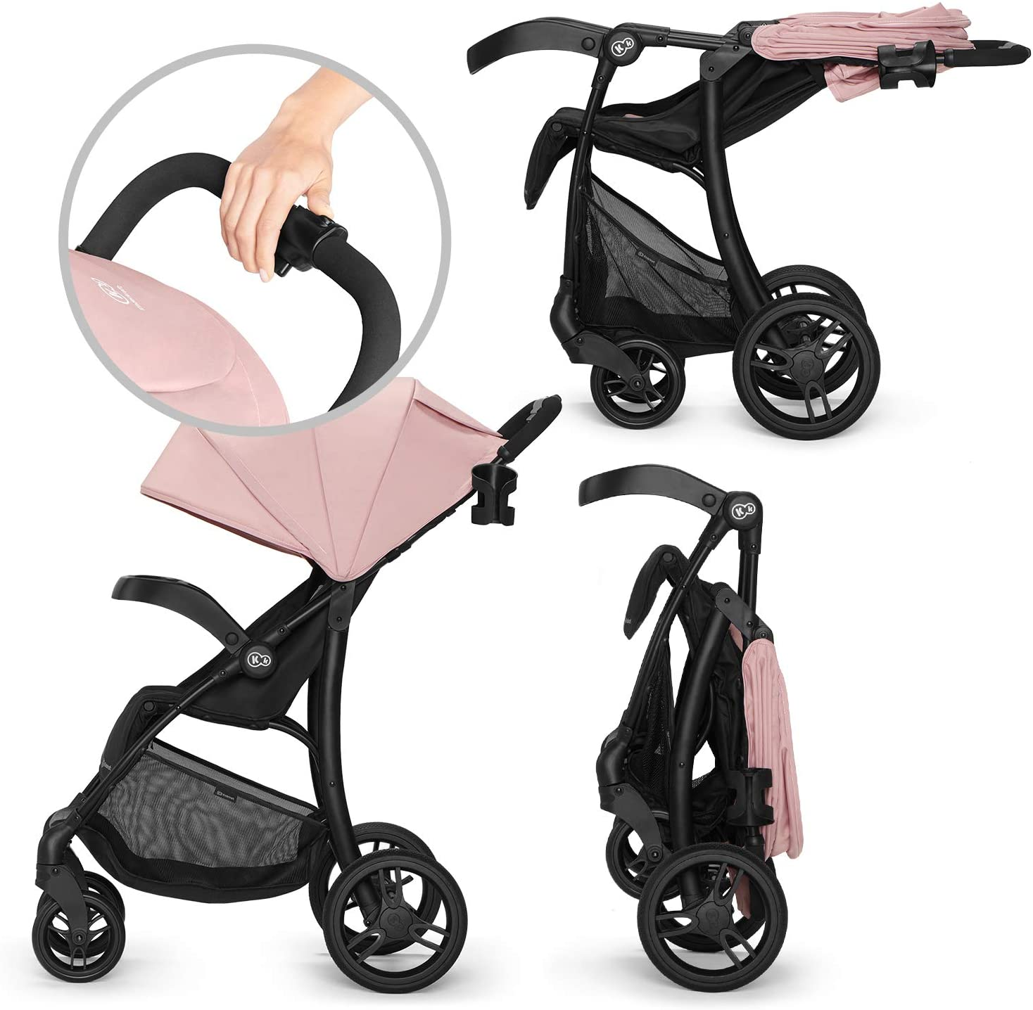 Kinderkraft Poussette Canne CRUISER Rose Pliable L/ég/ère Suspension 4 Roues