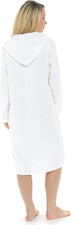 Idee Cadeau Femme Citycomfort Peignoir De Bain Femme 100 Coton Avec Capuche Robe De Chambre Eponge Confortable Sortie De Bain Fermeture Zippee Et Poches Nexusfn Com Br