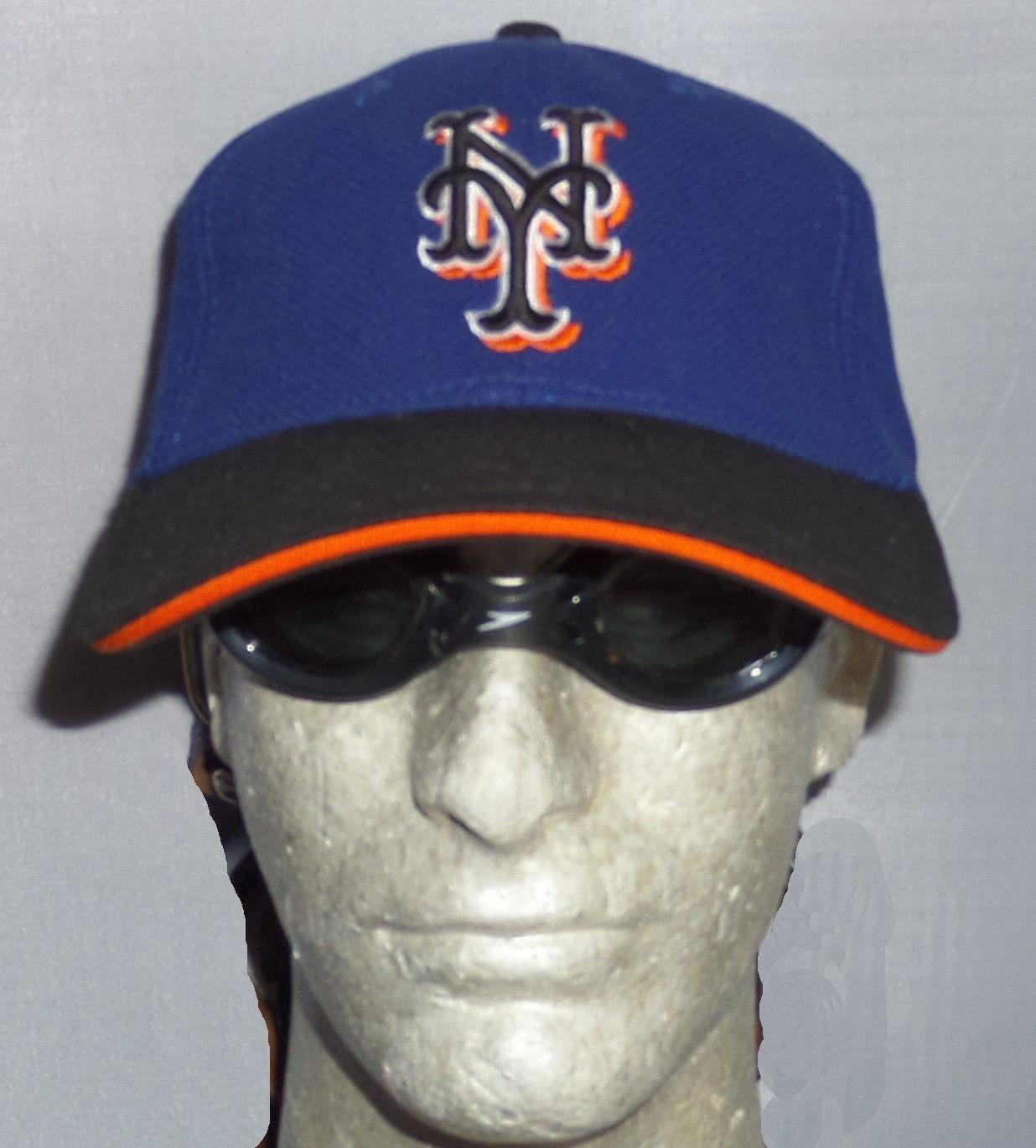 check out fba0d 7e42e Ny Mets Game Used Hathaway Orange Blue Black Flexfit Stretch ...