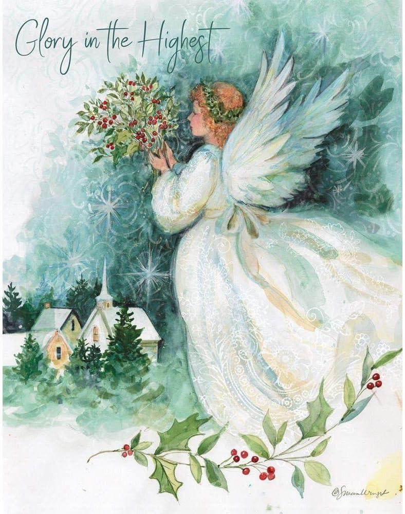 Lang Boxed Christmas Cards 2021 Amazon Com Lang Angel Of Christmas Boxed Christmas Cards 1004840 Office Products