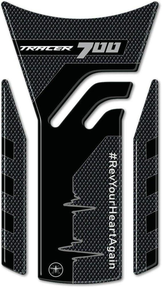 Autocollant de r/éservoir de moto en r/ésine gel 3D compatible avec Yamaha Tracer 700 /à partir de 2020