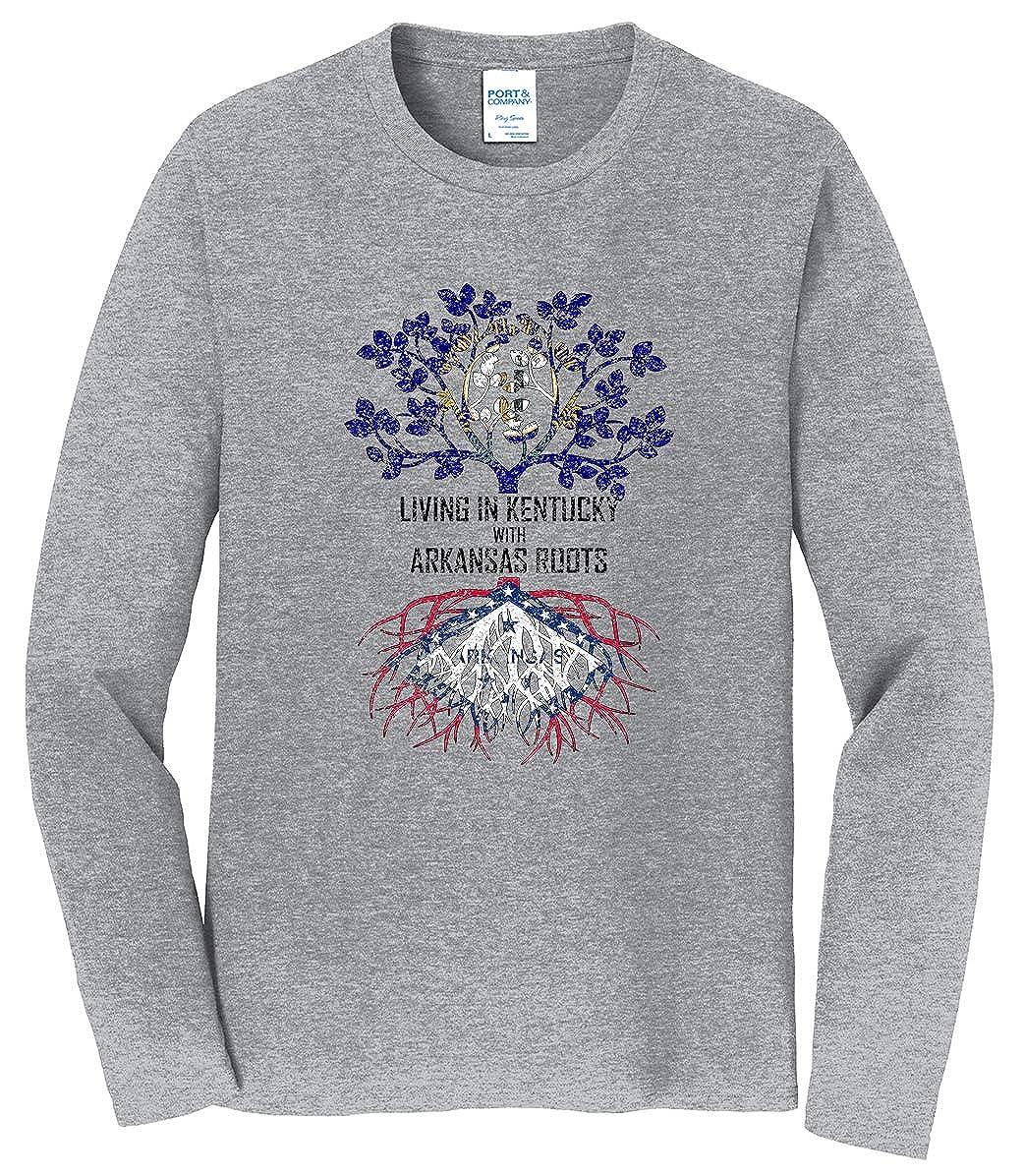 Tenacitee Mens Living in Kentucky Arkansas Roots T-Shirt