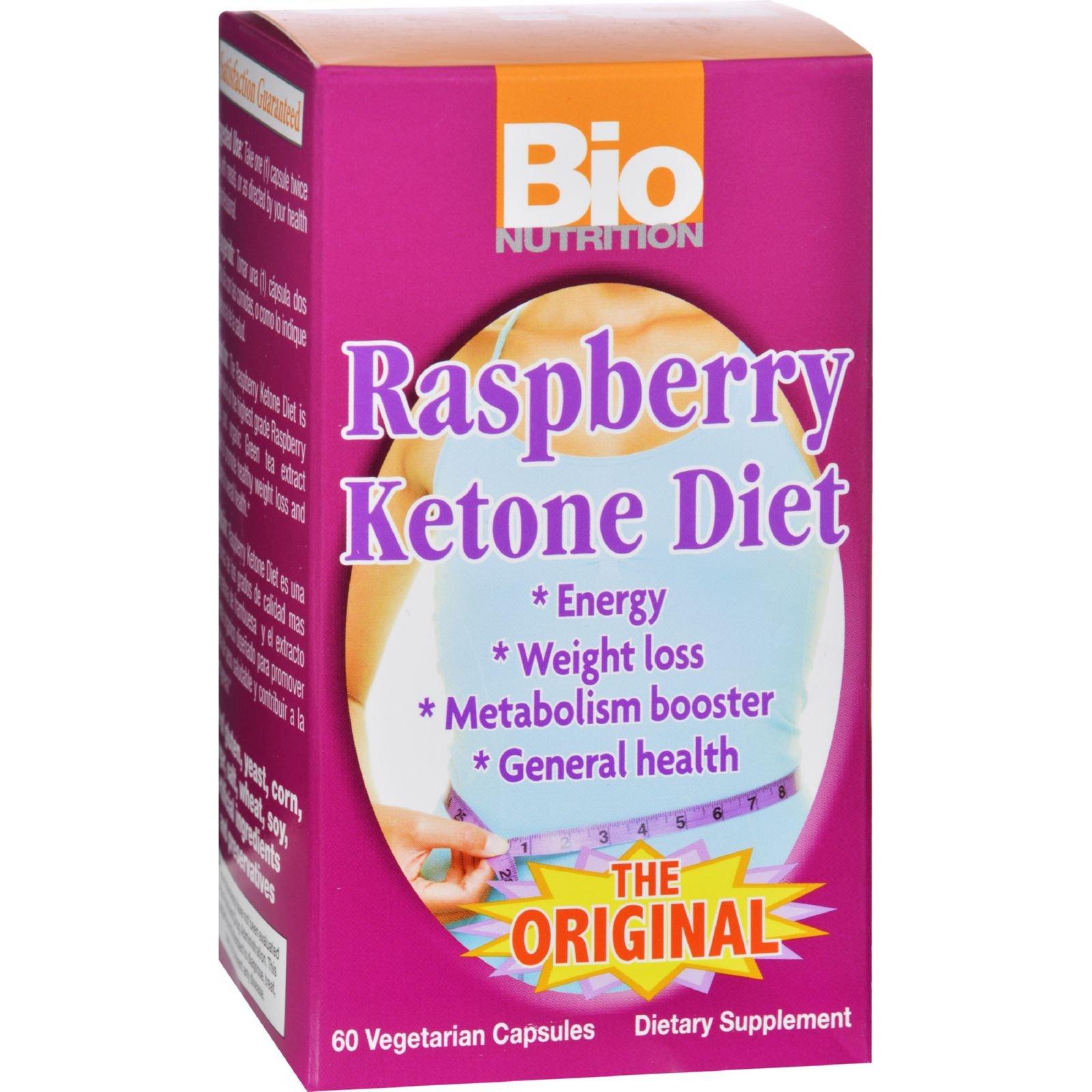 Bio Nutrition Raspberry Ketone Diet - 60 Veggie Capsules (Pack of 2)