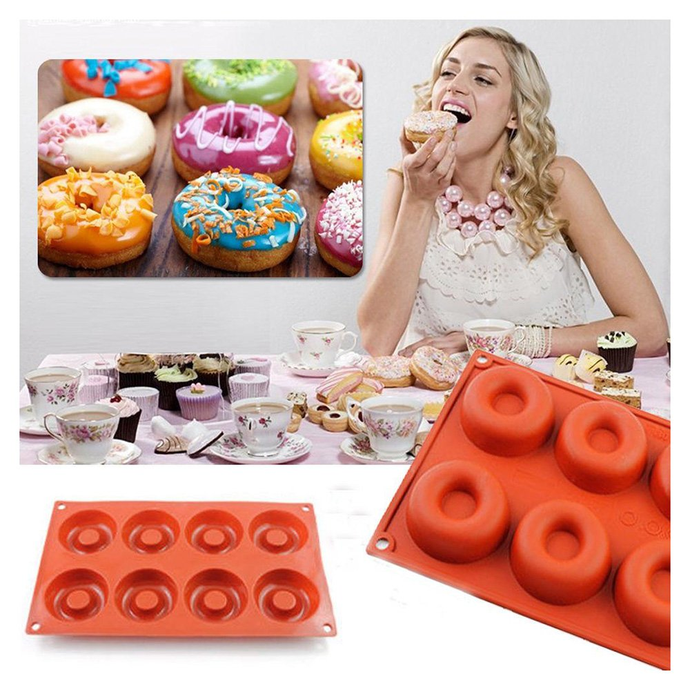 FTXJ Silicone Donut/Cake/Bread/Pudding/Jelly/Handmade Soap Baking Mold Mould Pan (Donut Shape)