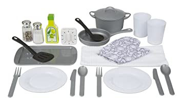 Melissa U0026 Doug 22 Piece Play Kitchen Accessories Set   Utensils, Pot, Pans