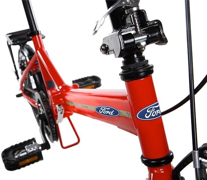 Ford B-MAX Bicicleta Plegable, Unisex Adulto, Rojo, 16