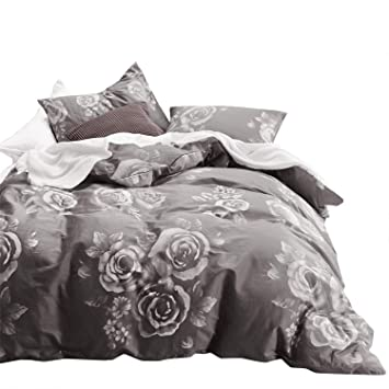 Amazon Wake In Cloud Floral Comforter Set 100 Cotton Fabric