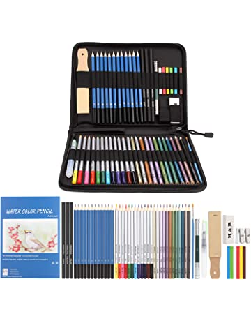 Unique Tin Kit with Pencils for Watercolor Sketching and Wet Media Design Brite Crown Watercolor Pencil Set Includes 24 Colorful Art Drawing Pencils and 1 Water Color Paint Brush for Blending
