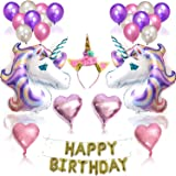 27Pcs Birthday Party Decorations Set Unicorn Party Supplies Balloons Gift for Children Birthday Theme Party