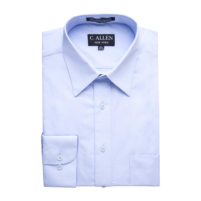 C Allen Mens Regular Fit Long Sleeve Soild Dress Shirt Colors At