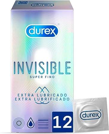 Durex Preservativos Invisibles Extra Lubricados - 12 condones: Amazon.es: Salud y cuidado personal