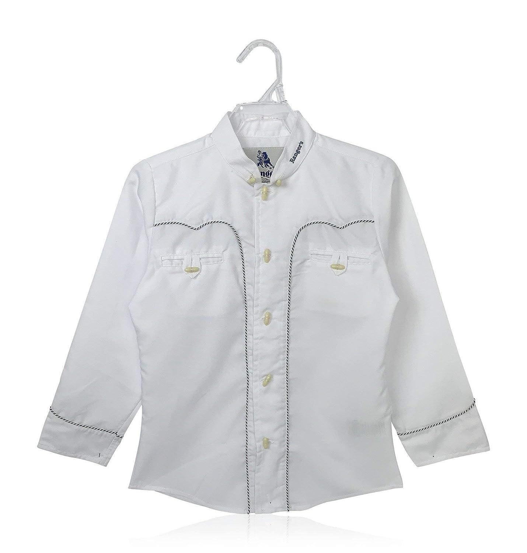 Rangers Camisa Charra de Ni/ño en Blanco