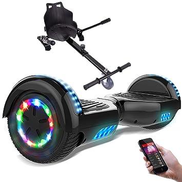 RCB Hoverboard 6.5 Pulgadas, Auto Equilibrio Patinete eléctrico, Ruedas de Luz LED, Bluetooth, Motor Brillante 700W (Black): Amazon.es: Deportes y aire ...