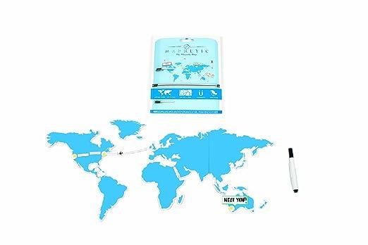 52 opinioni per Luckies LUKMAGN Mapnetic Set con Mappa Del Mondo Magnetica Cancellabile a Secco,