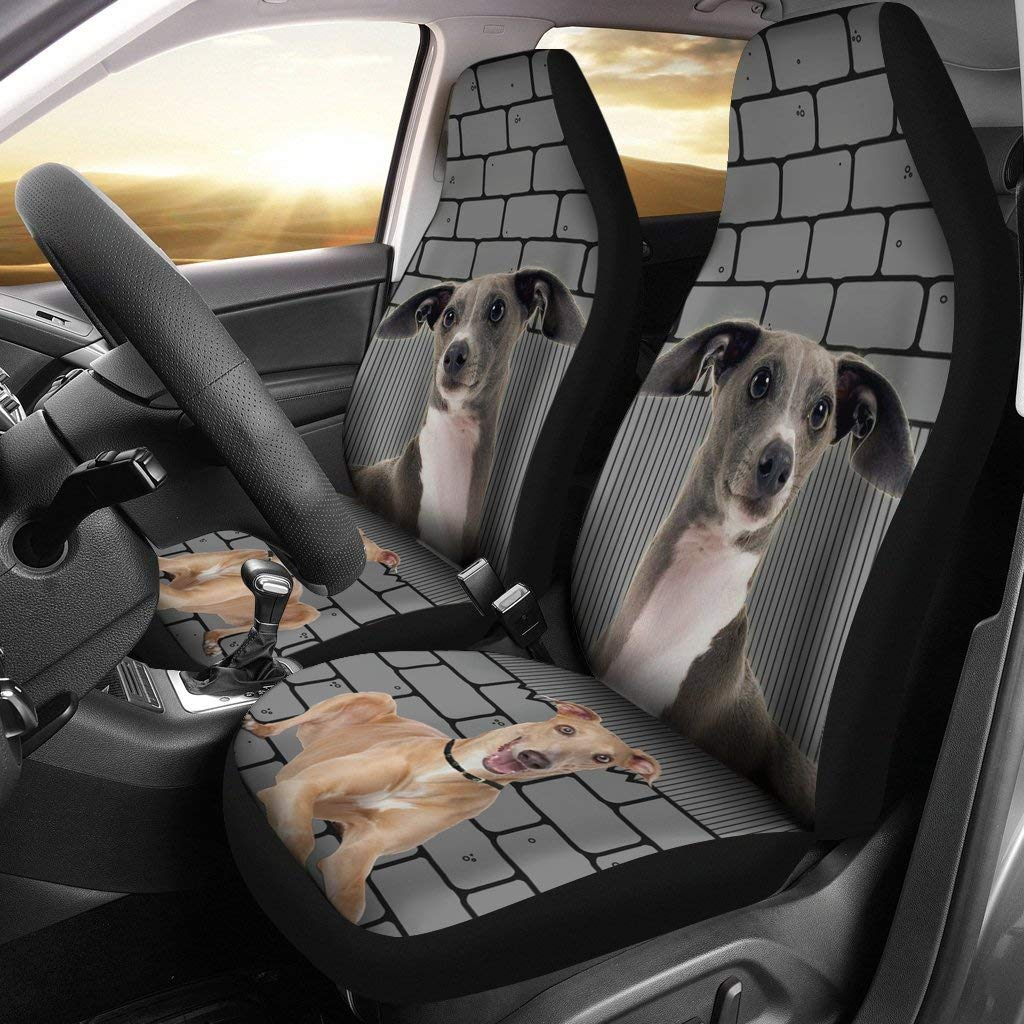 Universal Fit Deruj Italian Greyhound Print Car Seat Covers