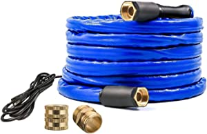 H&G lifestyles Heated Water Hose for Rv Self-Regulating 12 FT 90W Dark Blue …
