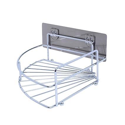 Amazon.com: Removable Corner Bathroom Shelf Stainless Steel Corner ...
