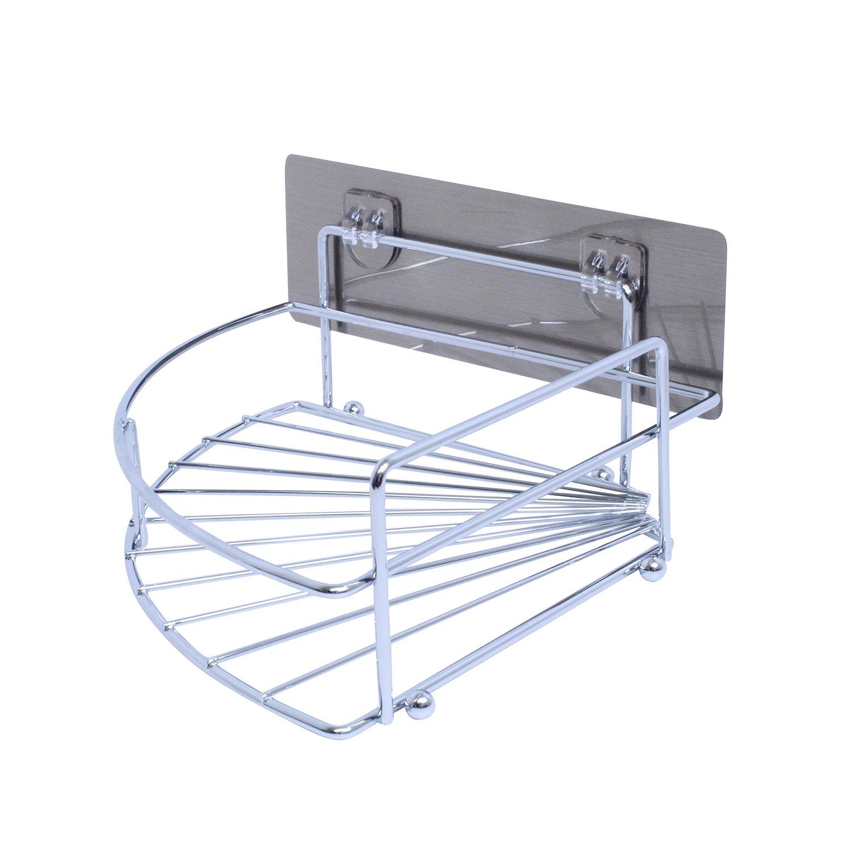 Removable Corner Bathroom Shelf Stainless Steel Corner Shower Caddy Corner Storage Caddy