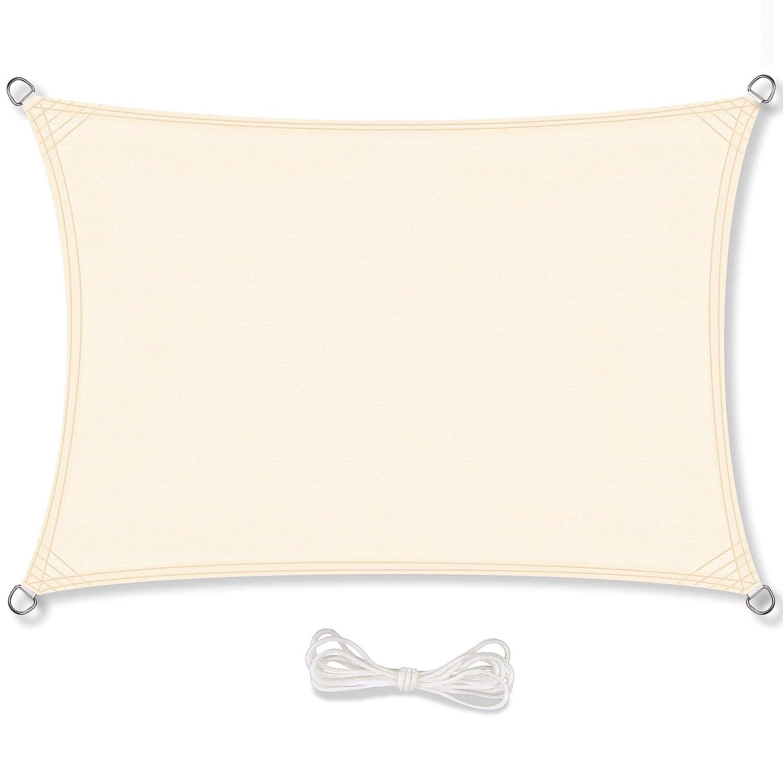 CelinaSun - Tenda rettangolare per esterni, idrorepellente, colore  Crema Bianco
