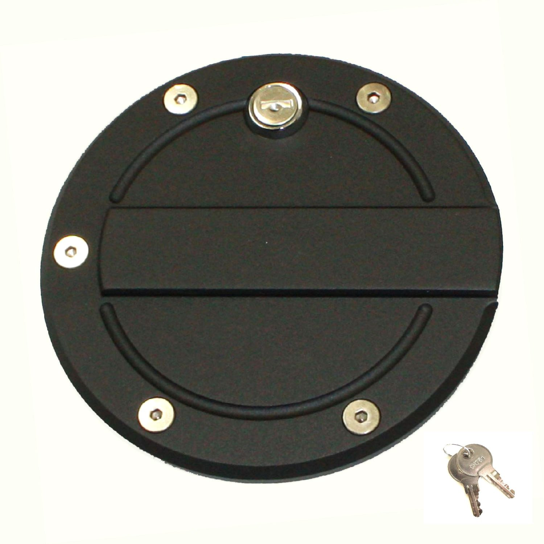 All Sales 6159KL 6 1//4 Ring Ami Race Style Billet Fuel Door Flat Black