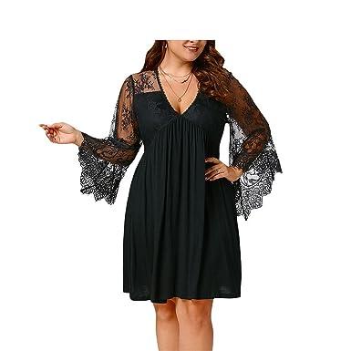 Ygosoon dress Dress Women Plus Size 5XL Tunic Dresses Vestido De Festa Big Size Black XL