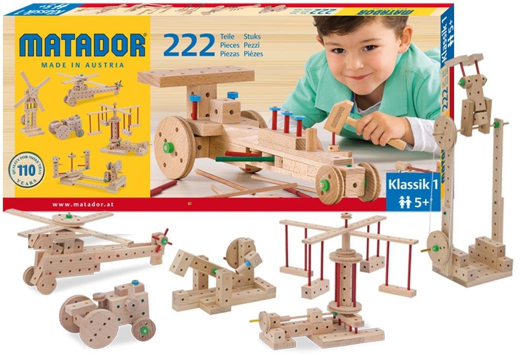 Matador Klassik 1 - 230 piezas de madera