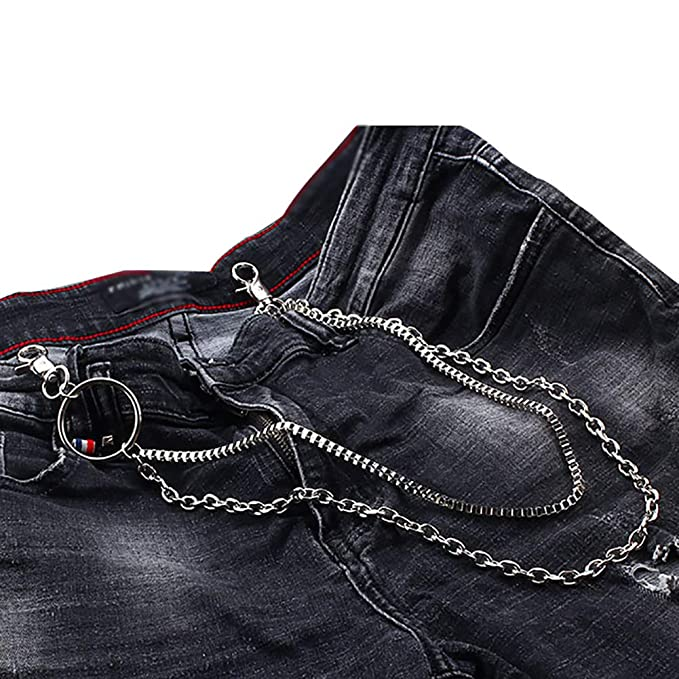 Amazon.com: Poseca - Llavero de cadena de metal para hombre ...