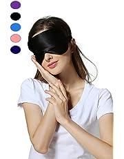 Rayhee Silk Sleep Mask & Blindfold, Soft Eye Mask with Adjustable Head Strap, Deep Rest Eye Masks for Sleeping Night Eyeshade