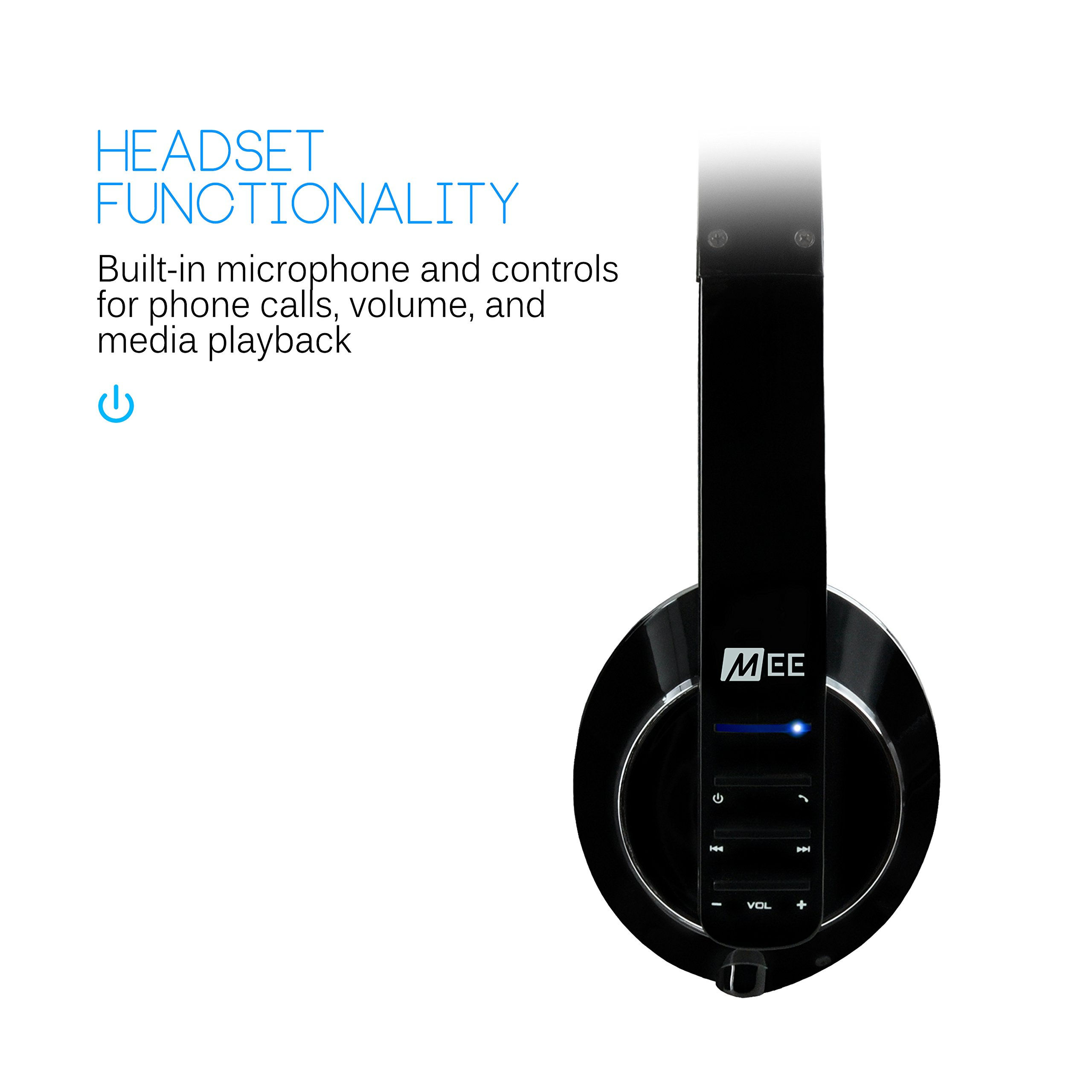MEE audio Runaway 4.0 Bluetooth Stereo Wireless + Wired Headphones with Microphone (Black) by MEE audio (Image #4)