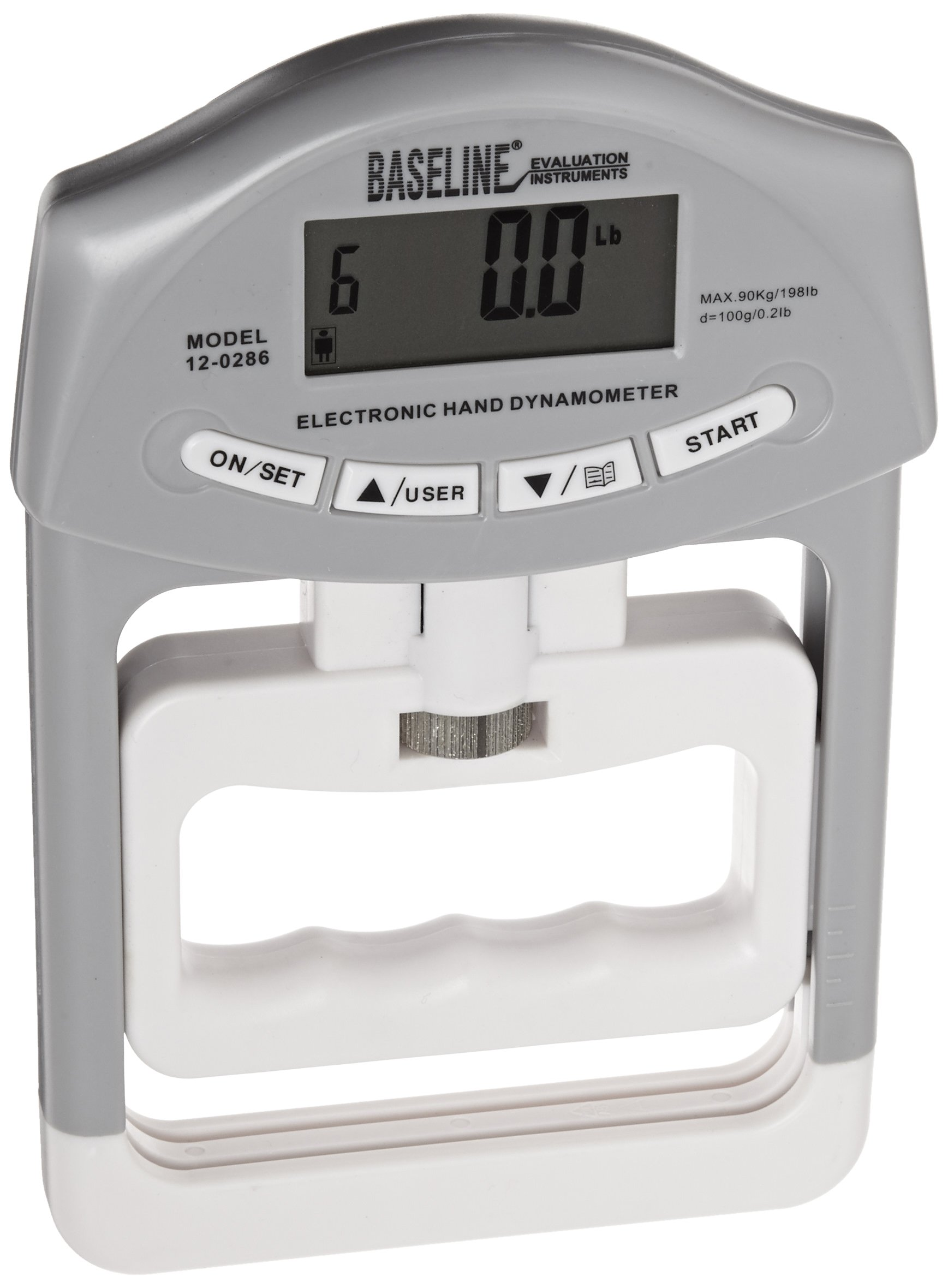 Baseline 12-0286 Electronic Smedly Hand Dynamometer, 200 lbs Capacity