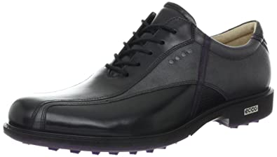 ECCO Men's Tour Hybrid Golf Shoe,Black/Titanium/Imperial Purple,45 EU