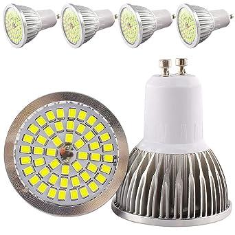 6 W GU10 Bombillas LED, 48 SMD 2835 LED Repuestos para halógeno 50 W 60