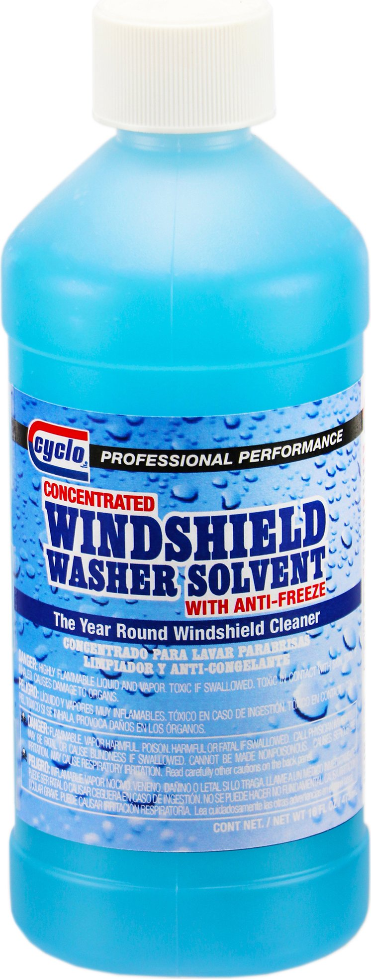 Niteo Cyclo Concentrated Windshield Washer Solvent with Antifreeze, 16 fl oz, Case of 12
