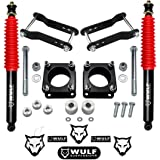 """WULF 3"""" Front 2"""" Rear Lift Leveling Kit for 2007-2020 Toyota Tundra TRD (Diff Drop, Rear Ext Shocks)"""