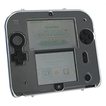 Zed Labz crystal clear polycarbonate plastic hard case protective armour cover shell for Nintendo 2DS
