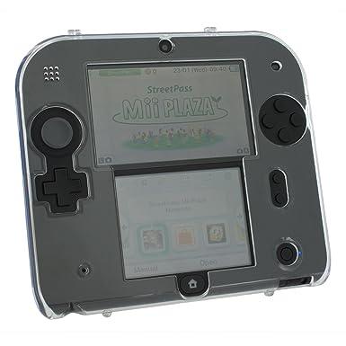 Zed Labz - Carcasa rígida de policarbonato para Nintendo 2DS, transparente