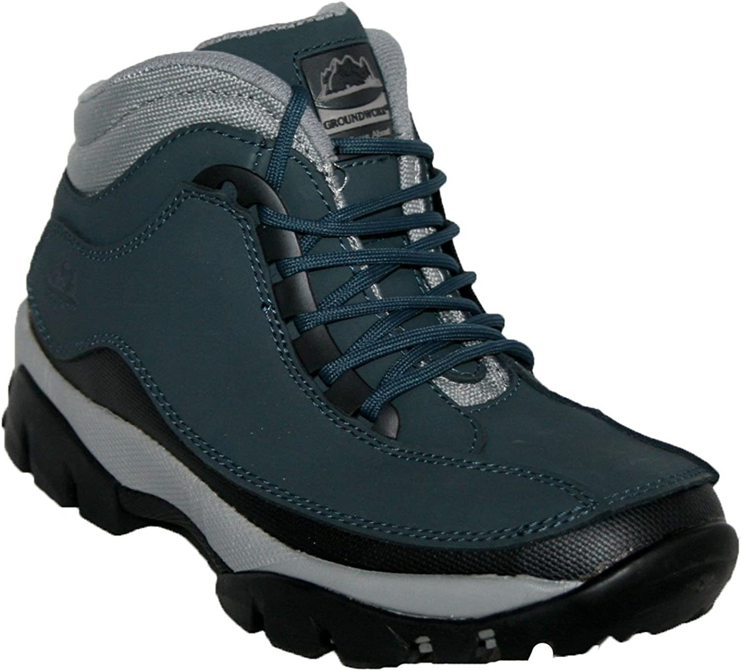 WOMENS SAFETY BOOTS GROUNDWORK GR386 STEEL TOE CAP LACE UP ANTI SLIP LEATHER
