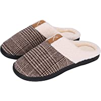 Puricon Women's Slippers, Soft Cozy Comfortable Memory Foam House Slippers Wool-Like Plush Fleece Lined House Shoes Non…