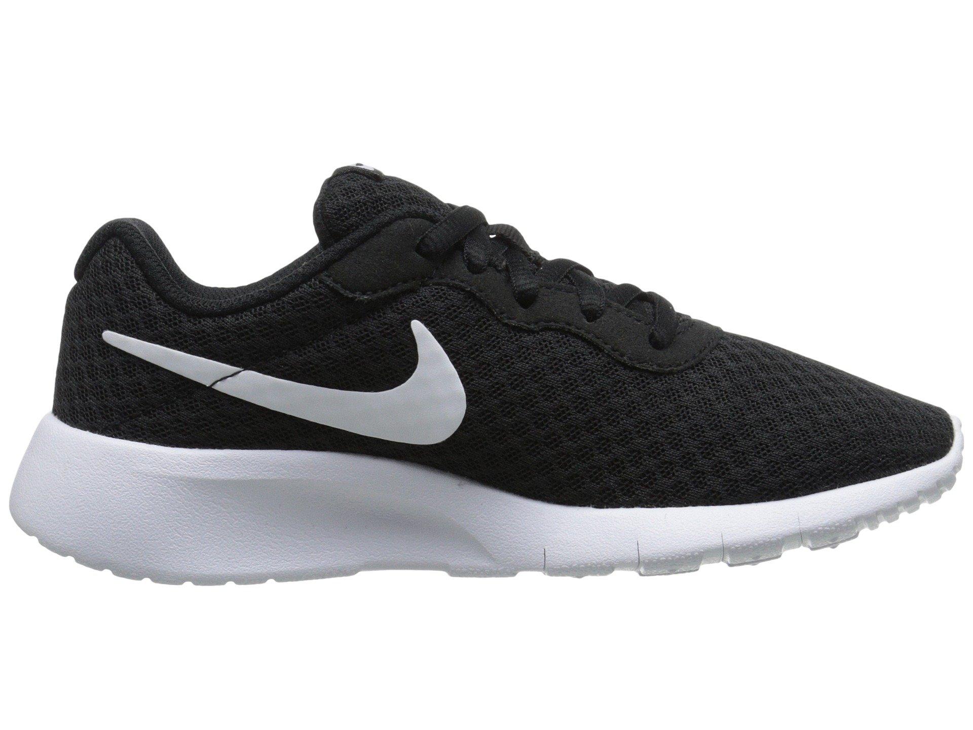 Nike Boy's Tanjun Running Sneaker Black/White-White 1.5 by Nike (Image #2)