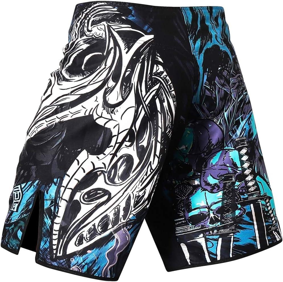 Pantalones cortos de boxeo para hombre con cord/ón y bolsillos para entrenamiento LAFROI QJK01