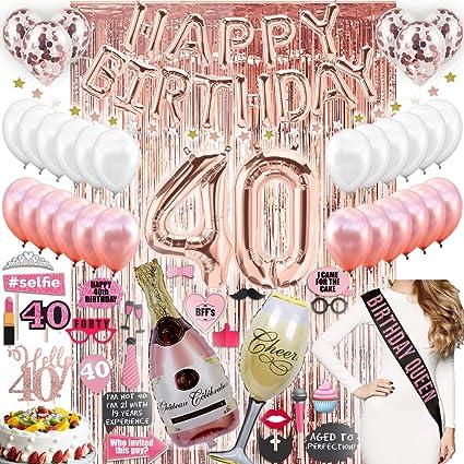 40 cumpleaños decoraciones de fiesta suministros 40 ...