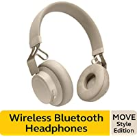 Jabra Move Style Edition, Gold Beige – Wireless Bluetooth Headphones with Superior Sounds Quality, Long Battery Life, Ultra-Light and Comfortable Wireless Headphones, 3.5 mm Jack Connector Included