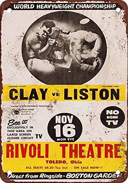 Toddrick Cassius Clay Vs. Sonny Liston - Cartel de hojalata ...