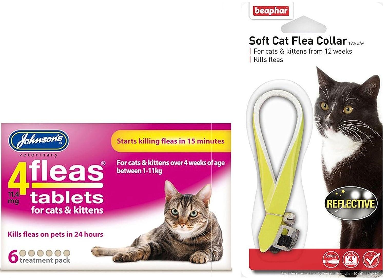 Larga Duración de conexión de PET Flea & Tick Kit para gatos (cuello de pulgas y tabletas): Amazon.es: Productos para mascotas