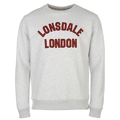 Manche Hommes Htg Rond Pull Xl Sweater Longue Col Lonsdale Marl Gris Chaud 5YqOxUdq