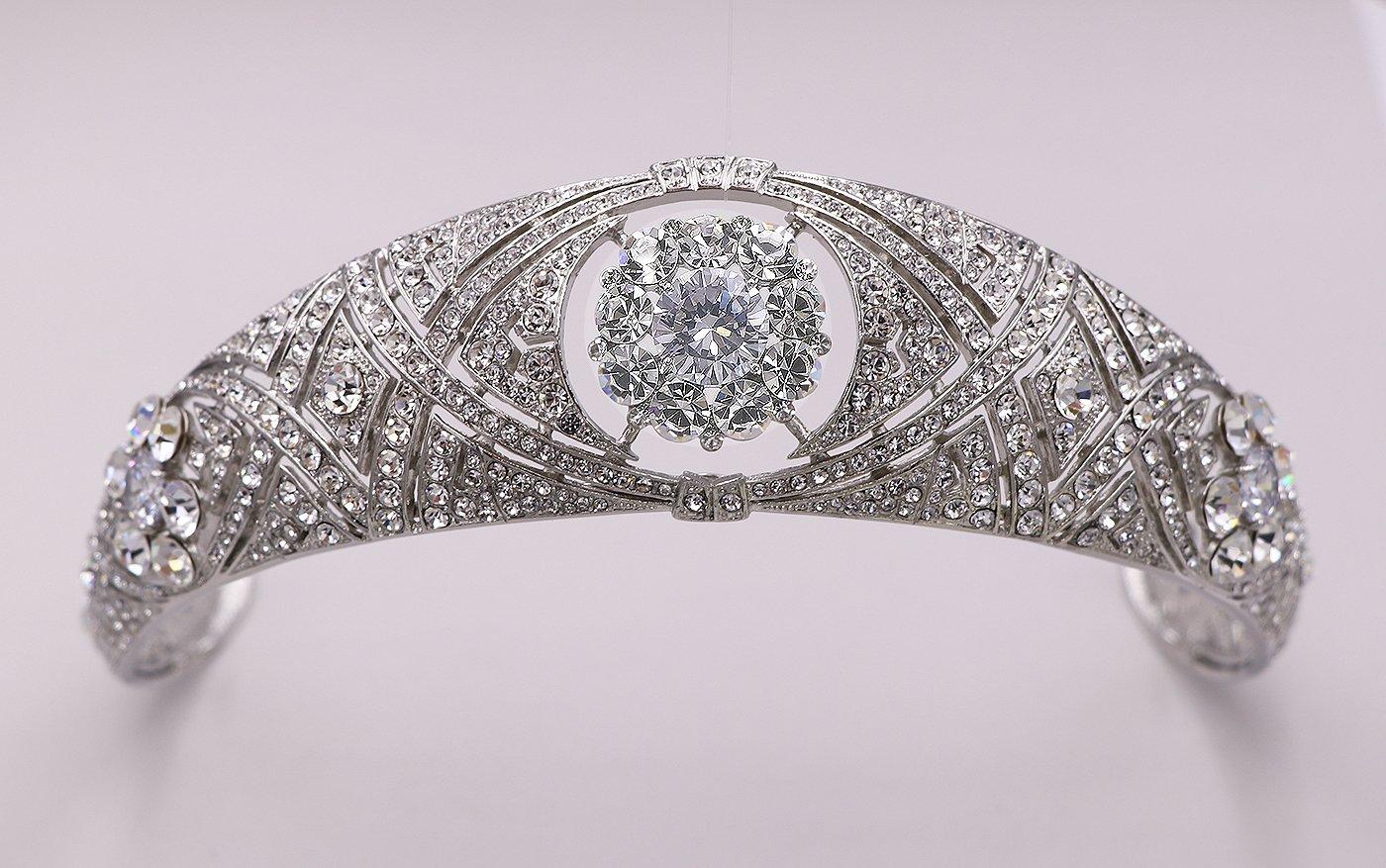 Amazon Com Meghan Markle Wedding Cubic Zirconia And Rhinestone Tiara Headpiece Handmade