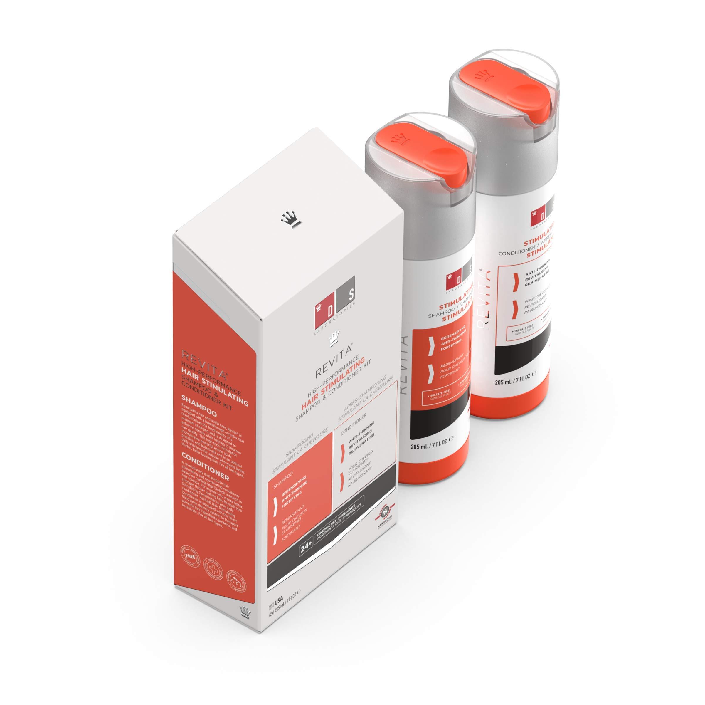 Revita High Performance Hair Stimulating Shampoo & Conditioner Bundle - Hair Growth Formula (205ml)