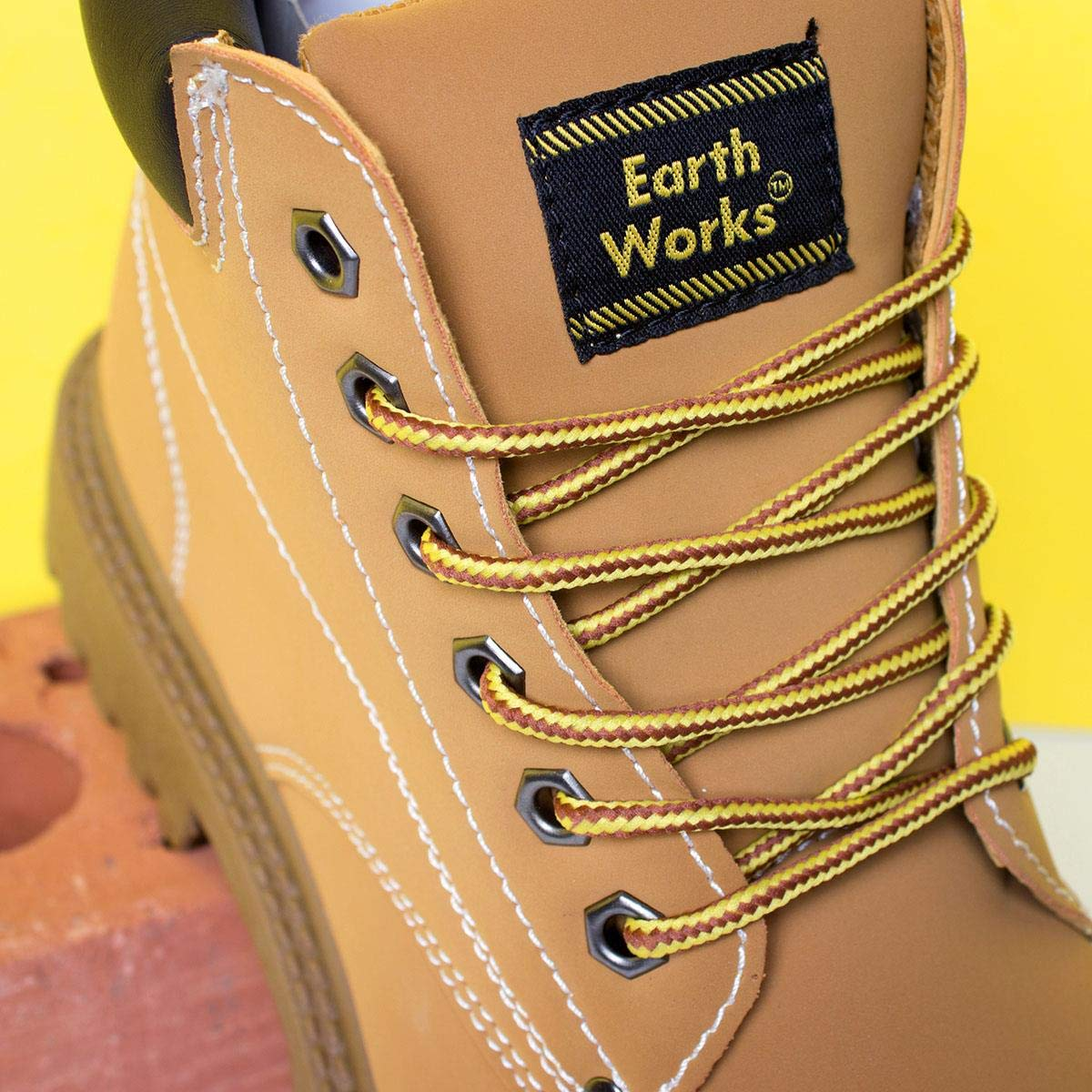 4f451ad474b Earth Works Mens Lace Up Boot in Honey