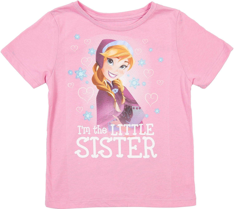 d539fc73 Amazon.com: Disney Frozen Im The Little Sister Girls Pink T-Shirt: Clothing