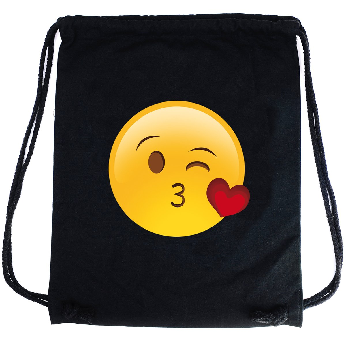 Premyo Sac à Dos Cordon Avec Emoji Smiley Bisou Coeur Sac à Cordon